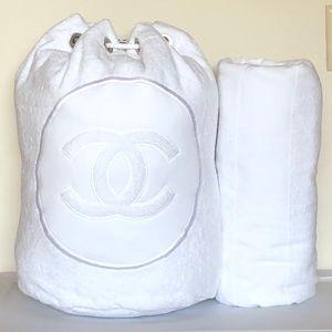 NWT Chanel Beach Bag w/matching towel